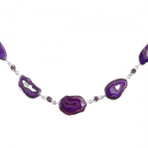 Agate (Purple) Necklace-NSL