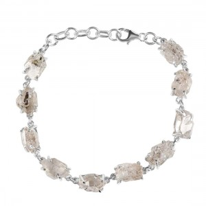 Petroleum Herkimer Diamond Rough Bracelet-BSL