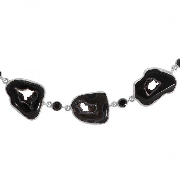 Agate (Black) Necklace-NJ ABL-12-2