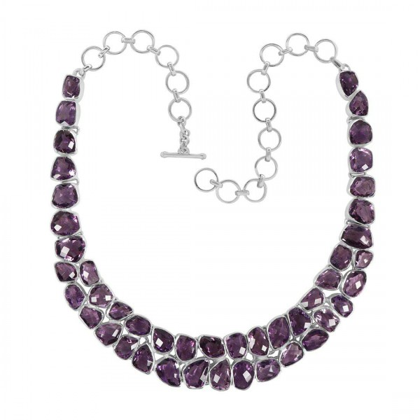 Amethyst Necklace-NJ AMT-12-8