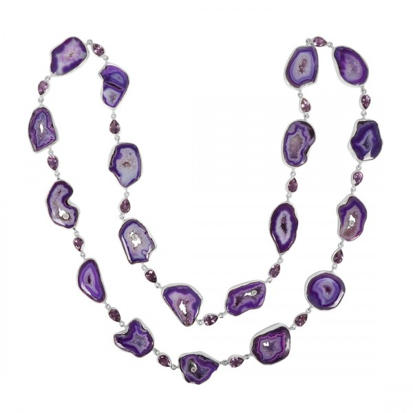 Agate (Purple) Necklace-NSL APU-12-4
