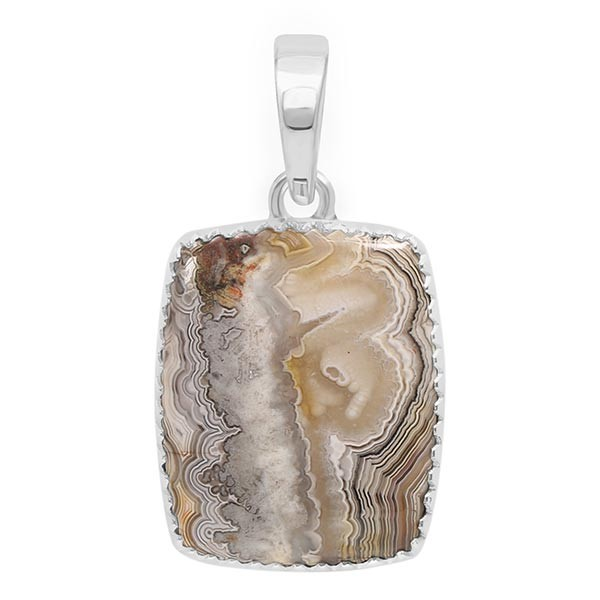 One of a Kind Crazy Lace Agate and Pearl pendant on Peach Moonstone and Sterling Silver Beaded Chain Windy Day Necklace with Kite