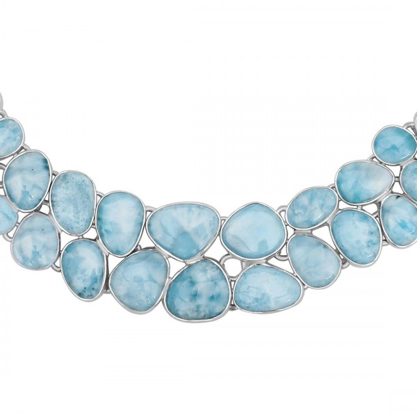 Larimar Necklace-NJ LAR-12-7