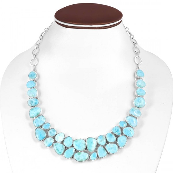 Larimar Necklace-NJ LAR-12-8