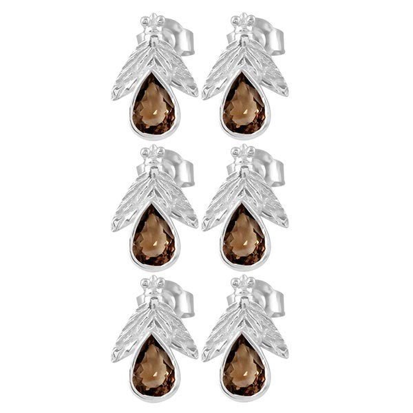 Smoky Earring Stud 3 Pcs Set SMY-RDE-33(3Pcs)