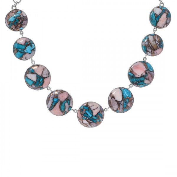 Turquoise (Oyster) Necklace-NSL TRO-12-10