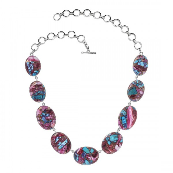 Turquoise (Oyster) Necklace-NSL TRO-12-12