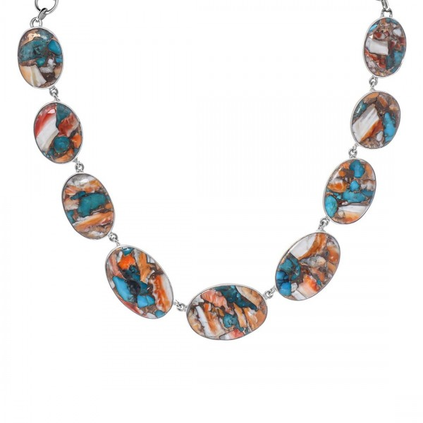 Turquoise (Oyster) Necklace-NSL TRO-12-2