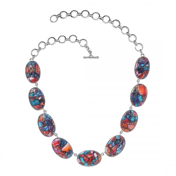 Turquoise (Oyster) Necklace-NSL TRO-12-4
