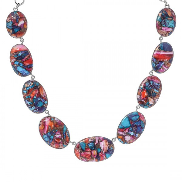 Turquoise (Oyster) Necklace-NSL TRO-12-5