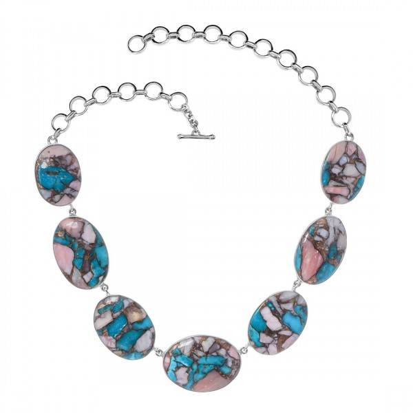 Turquoise (Oyster) Necklace-NSL TRO-12-7
