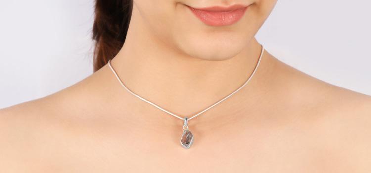 Herkimer diamond pendants