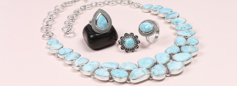Wholesale Larimar Gemstone Jewelry Collection
