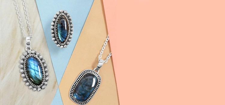 Labradorite pendants