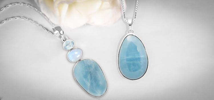 Natural Aquamarine Pendants