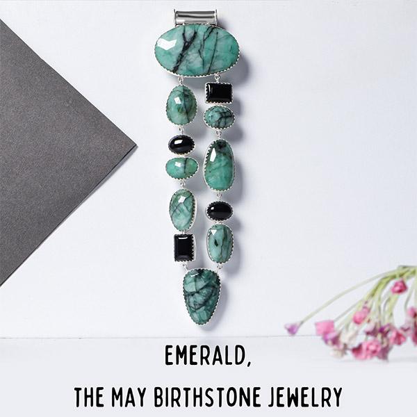 Emerald, the May birthstone jewelry
