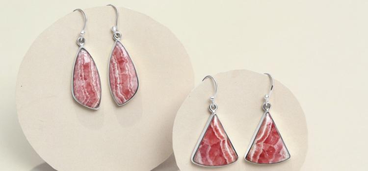 Rhodochrosite Earrings