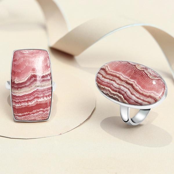 Rhodochrosite Rings